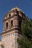 大教堂钟楼,库斯科省秘鲁 免版税库存图片