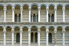 大教堂门面西方的比萨 库存照片