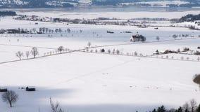 大教堂风景从新天鹅堡观点  免版税库存照片
