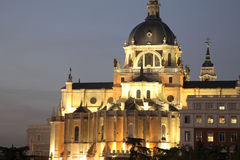 大教堂马德里 库存图片