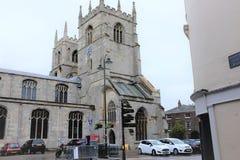 大教堂,林恩,诺福克,英国国王 免版税图库摄影