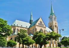 大教堂,罗兹,波兰 免版税库存照片