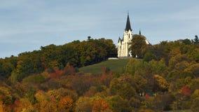 大教堂, Marianska hora, Levoca,斯洛伐克 免版税库存照片