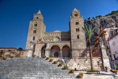 大教堂-中央寺院, Cefalu,西西里岛,意大利 免版税图库摄影