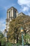 大教堂巴黎圣母院的塔 库存图片