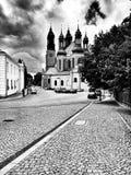 大教堂 在黑白的艺术性的神色 免版税图库摄影