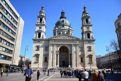 大教堂3月2017年,布达佩斯,匈牙利-访客圣斯蒂芬` s 免版税库存图片