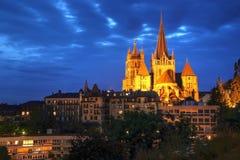 大教堂洛桑贵妇人notre瑞士 免版税库存图片