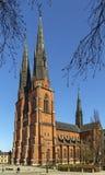 1270 1435年大教堂建筑完成了开始的乌普萨拉工作 库存照片