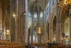 1270 1435年大教堂建筑完成了开始的乌普萨拉工作 免版税图库摄影