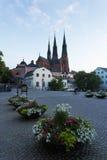 1270 1435年大教堂建筑完成了开始的乌普萨拉工作 库存图片