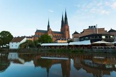 1270 1435年大教堂建筑完成了开始的乌普萨拉工作 免版税库存图片
