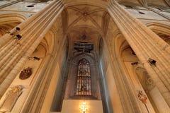 1270 1435年大教堂建筑完成了开始的乌普萨拉工作 免版税库存照片