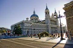 大教堂Almudena,马德里,西班牙。 免版税图库摄影