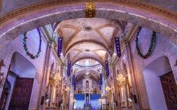 大教堂Atar Parroquia德洛丽丝Hidalalgo墨西哥 库存照片