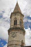 大教堂belltower佩鲁贾pietro st 库存照片