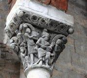 大教堂chapiter大卫jaca国王罗马式 免版税库存图片