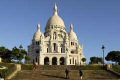 大教堂coeur巴黎sacr 免版税图库摄影