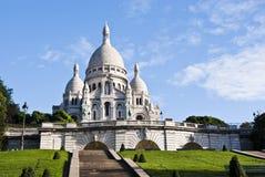 大教堂coeur巴黎sacre 免版税库存照片