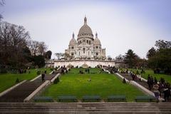 大教堂coeur montmartre巴黎sacre 库存图片