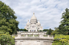 大教堂coeur montmartre巴黎sacre 图库摄影