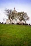 大教堂coeur montmartre巴黎sacre 免版税图库摄影