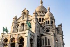 大教堂coeur巴黎sacre 免版税库存图片