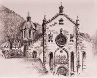 大教堂como 向量例证