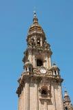 大教堂compostela de圣地亚哥西班牙塔 库存图片