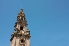 大教堂compostela de圣地亚哥西班牙塔 免版税库存图片