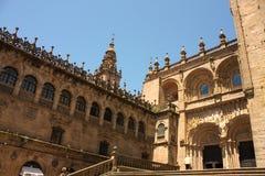 大教堂compostela de圣地亚哥西班牙 库存图片