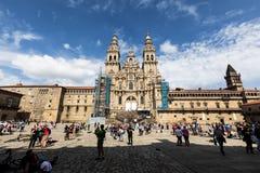 大教堂compostela de圣地亚哥 库存图片
