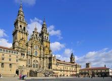 大教堂compostela de圣地亚哥 图库摄影