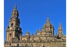 大教堂compostela de圣地亚哥 免版税库存图片