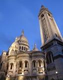 大教堂couer巴黎sacre 库存照片
