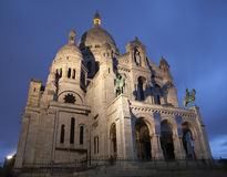 大教堂couer巴黎sacre 库存图片