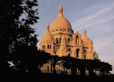 大教堂couer法国montmartre巴黎sacre 库存照片