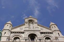 大教堂couer sacre 图库摄影
