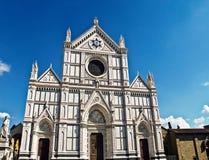 大教堂croce二佛罗伦萨意大利圣诞老人 库存图片
