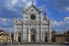 大教堂croce佛罗伦萨意大利圣诞老人 免版税库存照片