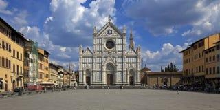 大教堂croce佛罗伦萨意大利圣诞老人 库存图片