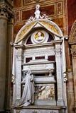 大教堂croce佛罗伦萨意大利rossini圣诞老人ࢼ 免版税库存图片