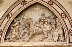 大教堂croce门面佛罗伦萨圣诞老人 免版税图库摄影