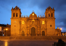 大教堂cusco秘鲁 图库摄影
