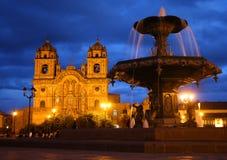大教堂cusco秘鲁 免版税图库摄影