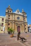 大教堂De圣佩德罗火山克拉弗在卡塔赫钠哥伦比亚 免版税库存照片