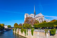 大教堂de法国贵妇人notre巴黎 库存照片