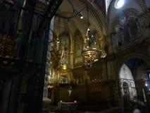 大教堂de蒙特塞拉特,巴塞罗那地区,西班牙 免版税库存照片