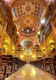 大教堂de la梅尔切(我们的慈悲的夫人的内部) 巴塞罗那 西班牙 免版税库存图片