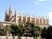 大教堂de mallorca palma西班牙 免版税库存照片